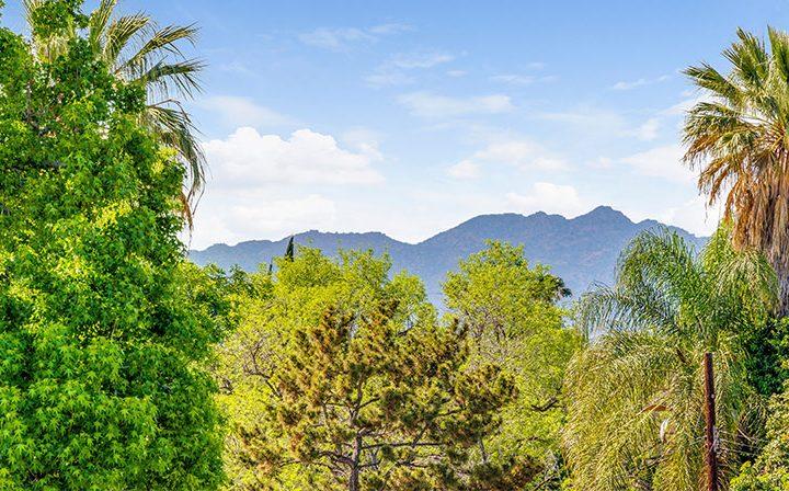 Trees, mountains, and open sky near Amanda Regency, Decron's San Fernando Valley apartments