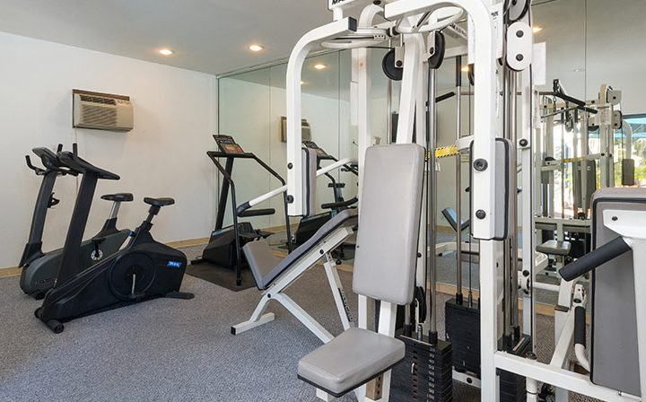State-of-the-art fitness center at Ascent, West Hollywood apartments in Los Angeles county