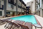 360 E-Tour preview of resort-style pool at the Bay on 6th Santa Monica apartments