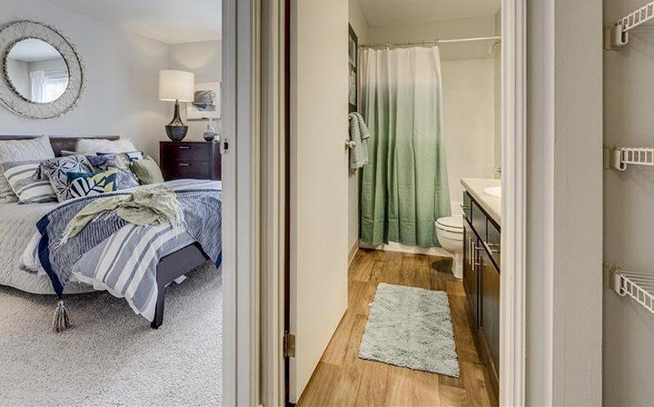 Bedroom and Bathroom Furnished
