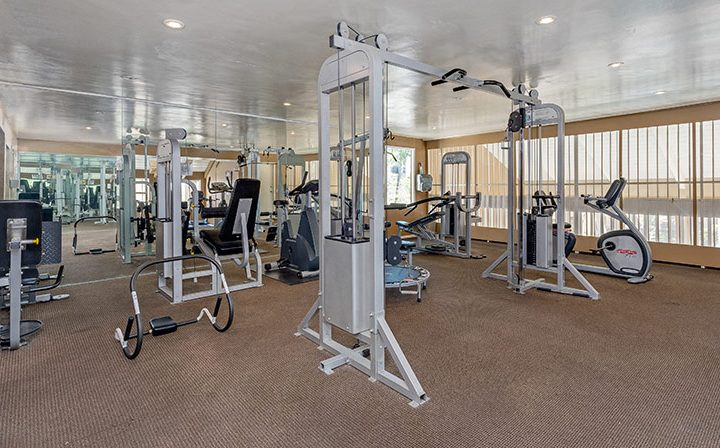 Fitness center at the Atwater Village apartments community Los Feliz Village in Los Angeles