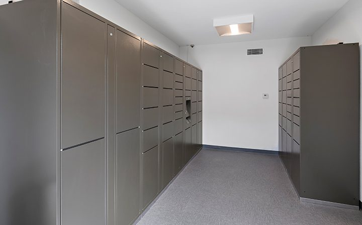 Secure package lockers for residents at The Retreat at Thousand Oaks apartments