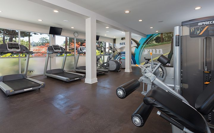 Large state-of-the-art fitness center with machines at Willow Creek, apartments in San Jose