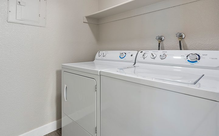 In-unit washer and dryer at Willow Creek, San Jose apartments