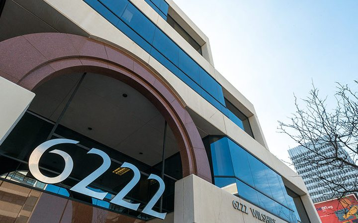 Detail of 6222 numbers at 6222 Wilshire, a Class-A Six-Story Los Angeles office building for rent