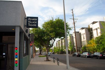 Atwater Village Theatre, a renowned performing arts complex near Decron's Atwater Village apartments