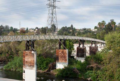 Sunnynook Pedestrian Bridge over the LA River, near Decron's Atwater Village apartments