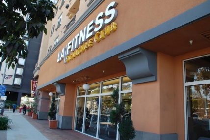 LA Fitness gym entrance near Decron's Playa del Rey apartments communities