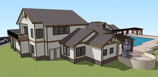 3D digital rendering of the Village Crossing fitness center and clubhouse