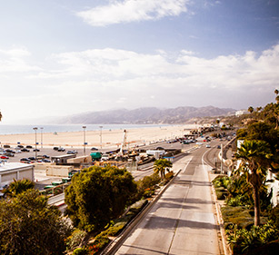 Boardwalk along the west coast where many of Decron's Southern California apartments may be found