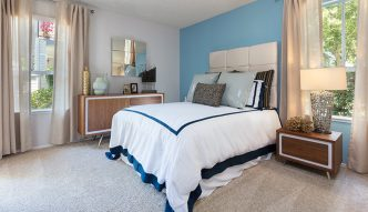 Bedroom interior at Willow Creek apartments