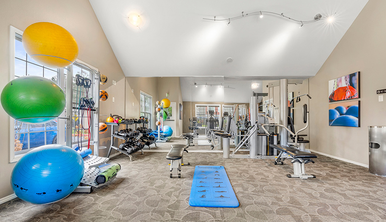 Fitness center at Indigo Springs in Kent, Washington