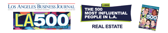 Logos for the Los Angeles Business Journal's The 500 Most Influential People in L.A. Real Estate