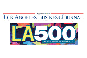 Logo for the Los Angeles Business Journal 500 (LA 500)