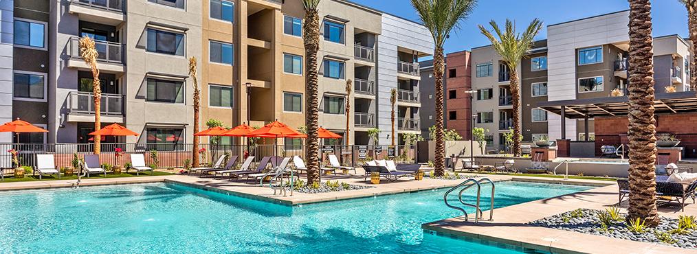 Resort-style pool at Broadstone Rio Salado, a Tempe apartments community